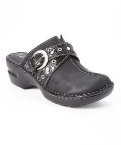 This Black Oiled Karley Leather Clog by b.o.c is perfect! #zulilyfinds