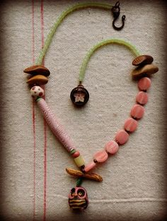 Bumble Hoot from Lorelei Eurto - featuring my pink mum bead.