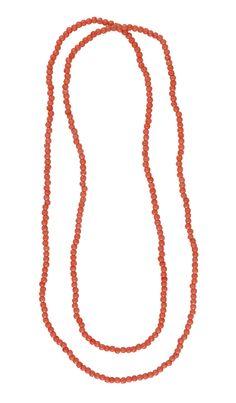 Sommermode 2013 - Tragen Sie die diesen aparten Halsschmuck aus unregelmäßig geformten Perlen ganz nach Lust und Laune ein- oder doppelreihig