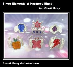 Elements of harmony rings! I want Laughter, mainly cause I would be the element of laughter and also cuz Pinkie is my favorite character.