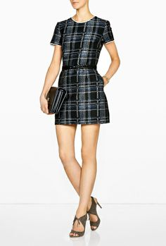 Sea Belted Plaid Dress in Blue (sea) - Lyst