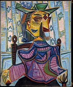 Dora Maar in an Armchair Pablo Picasso (Spanish, Malaga 1881–1973 Mougins, France) Date: 1939 Medium: Oil on canvas