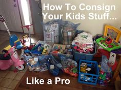 Make Your Own Damn Dinner: How To Consign Your Kids Stuff Like a Pro