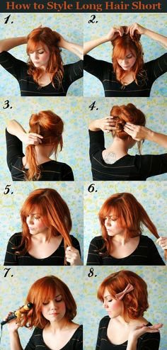 How to style long hair short. This is super creative and cute