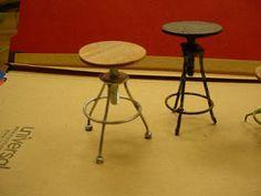 tutorial: miniature industrial type stools