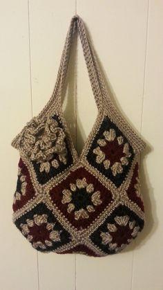 #Crochet 13 square granny square Handbag Purse #TUTORIAL #163