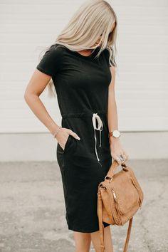 Black Tshirt Dress Outfit, T Shirt Dresses, Dress Black, Florida Outfits, Shirred Dress, Latest Fashion Dresses, Swim Dress, Mode Outfits, Shirt Style