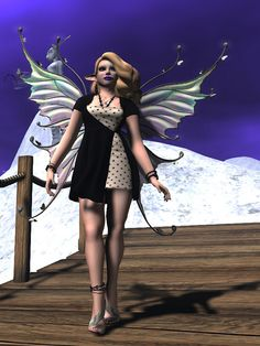 A Bridge Too Far by Deoridhe Grimsdottir Quandry Wrap Heels, One Design, Bridge, Poses, Purple, Dresses, Fashion, Figure Poses, Vestidos