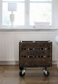Dark wooden crates Too many uses to list!!  I love this!