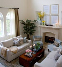 small and casual living room - Google Search