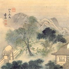 Korean traditional painting. I would love to go here and spend a cool fall enjoying all of this beauty!