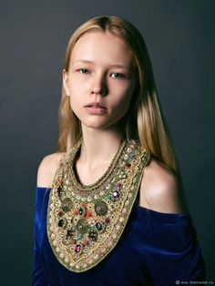 Beaded Necklace Russkie Uzory – shop online on Livemaster with shipping