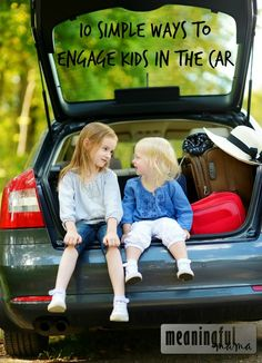 10 Simple Ways to Entertain Kids in the Car - Road Trip!!