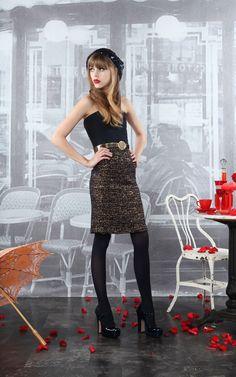 NWT Alice Olivia High Neck Dress With Belt Black//White $368 2//4//6 $368