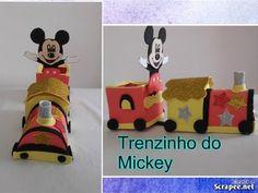 COMO FAZER TRENZINHO DO MICKEY EM EVA