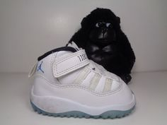 5b255c5d5780 Babies Nike Air Jordan 11 Retro Legend Blue Columbia Toddlers size 4C 378040 -117