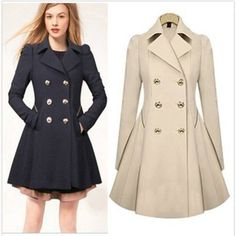 2017 new Womens Windbreaker slim Jacket Outwear Coat Breasted Trench Overcoat