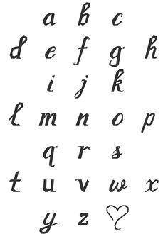 Cursive Script Lowercase Alphabet Paper Pieced