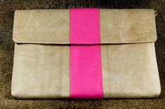 MacBook Pro (Retina) Organic Leather Sleeve / Case - Pretty in Pink