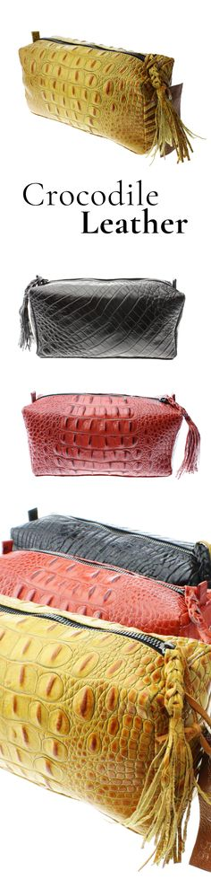 Beautiful genuine crocodile leather handbags. #designer #fashion #leathergoods