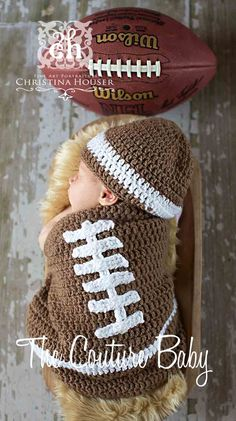 Football Bunting Crochet 2 Piece Set
