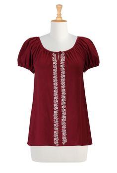 Women's designer fashion - Shop Women's Tunic Tops - Embellished Tops, Long Sleeve Tops, Short Sleeve Tops - | eShakti.com