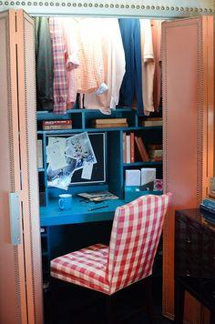 Hang clothes over desk!!