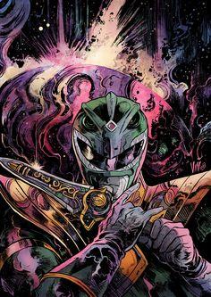 Power Rangers Fan Art, Power Rangers Ninja, Mighty Morphin Power Rangers, Comic Books Art, Comic Art, Book Art, Tim Burton Batman, Green Power Ranger, Tv Themes