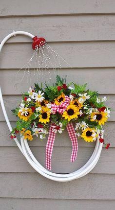 DIY Garden Hose Wreath.