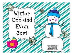 This Winter Odd and Even Sort was created to use as an independent or small group math center activity.  It uses numbers 1 through 50 to use for the sorting activity. There is a recording sheet included. It also includes an independent practice cut and glue sheet with numbers 11-30.