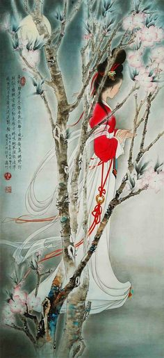A fine painting 难得一见的艺术珍品, #Traditional Chinese Painting #Lady Painting #brushpainting #ink and wash painting #fineline