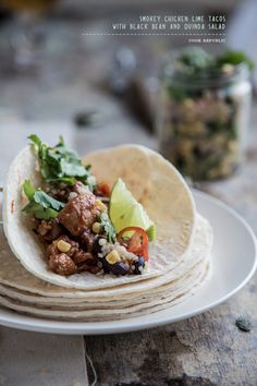 Smokey Chicken Lime Tacos