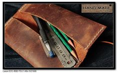 Genuine leather pencil case pen handmade stationery bag genuine leather brief vintage-inPencil Cases from Office & School Supplies on Aliexpress.com