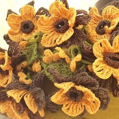 Turkish OYA Lace Flower stole/Deap Mustard Scarf Shawl For