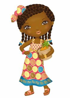 Do you see doc mcstuffins? Cute Girl Drawing, Drawing For Kids, Art For Kids, Illustration Mignonne, Cute Illustration, African Paintings, African Art, Arno Stern, Costumes Around The World