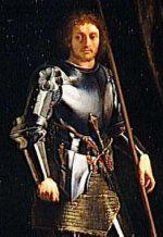 Gaston de Foix-Nemours. - 4° guerre d'Italie: Les troupes françaises en 15011, commandées par Gaston de Foix, parviennent toutefois à vaincre les troupes de la Ligue: celles-ci doivent le ver le siège de Bologne, évacuer Brescia qu'elles avaient reprises et vainquent les troupes de la Ligue le 11 avril 1512 lors de la bataille de Ravenne. Gaston de Foix meurt durant cette bataille et Jacques II de Chabannes, son successeur, n'a pas ses talents de général.