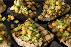 Trying this for dinner tonight -- Grilled Swordfish with Cucumber-Melon Salsa (and going to mess with the salsa a little, probably add some pineapple, jalapeno and cilantro... we'll see if I don't screw it up!)