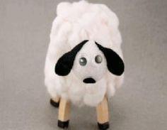 laboratori per bambini pasquali pasqua pecore riciclo cotone e bicchiere di plastica kids craft easter