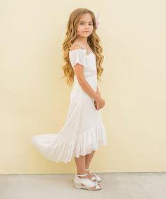 Look at this #zulilyfind! Cream Delphine Dress - Toddler & Girls #zulilyfinds