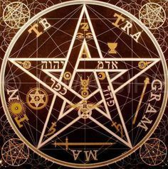 century occultist Eliphas Levi constructed this pentagram, which he considered to be a symbol of the microcosm, or human being. It is believed by many to be one of the most powerful pentacle designs ever conceived. Occult Symbols, Magic Symbols, Occult Art, Witchcraft Symbols, Pentacle, Eliphas Levi, Magic Circle, Book Of Shadows, Sacred Geometry