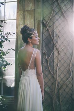 Backless wedding dress by Maria Senvo ~ Simple and Glamorous Luxury Bridal Wear in London, UK - an exciting break-through brand aimed at a new generation bride. Photography by http://www.georginamartin.co.uk/