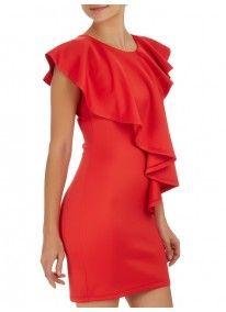 STYLE REPUBLIC | Draped Smart Dress Red