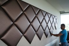 The latest trend in interior design! - KERMA DESIGN wall panel and wall covering. - The latest trend in interior design! – KERMA DESIGN wall panel and wall covering webshop – KER - Luxury Bedroom Design, Bedroom Bed Design, Home Decor Bedroom, Modern Luxury Bedroom, Interior Design, Bed Headboard Design, Headboards For Beds, Bed Back Design, Leather Wall Panels