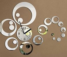 Creative DIY acrylic mirror wall clock DIY Decorative Modern Mirror Wall Clock StickerAcrylic Room Silent Large New Bedroom Living Room Children Office Decor Analog White * Be sure to check out this awesome product.
