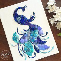 peacock-button-art