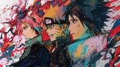 Anime Naruto  Naruto Uzumaki Sasuke Uchiha Sakura Haruno Fondo de Pantalla