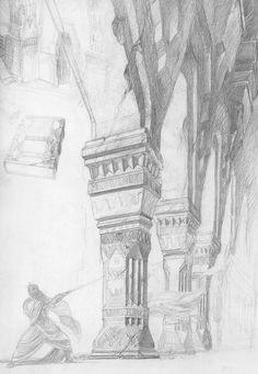 alan_lee_the lord of the rings_sketchbook_06_moria03.jpg (1107×1600)