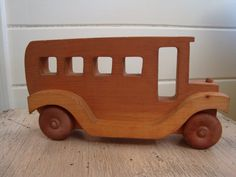 Love this for a kid's room! Vintage Wooden Schoolbus. via Etsy.