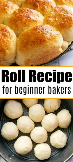 Easy roll recipe you can make even if you are a beginner baker but want some homemade bread. Easy roll recipe you can make even if you are a beginner baker but want some homemade bread. Easy Bread Roll Recipe, Quick Bread Rolls, Easy Yeast Rolls, Easy Rolls, Dinner Rolls Recipe, Quick Bread Recipes, Cooking Recipes, School Rolls Recipe, Dinner Rolls Easy