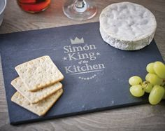 King of the Kitchen Slate Cheese Board